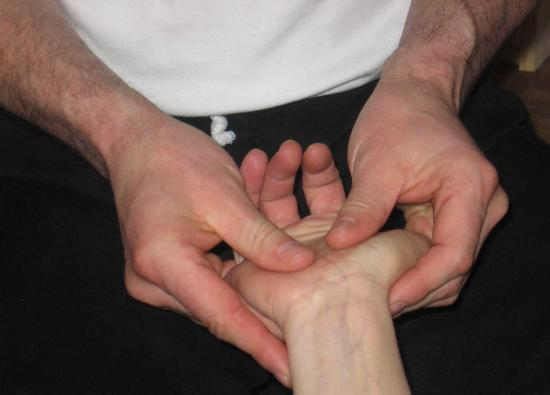 Shiatsu des mains